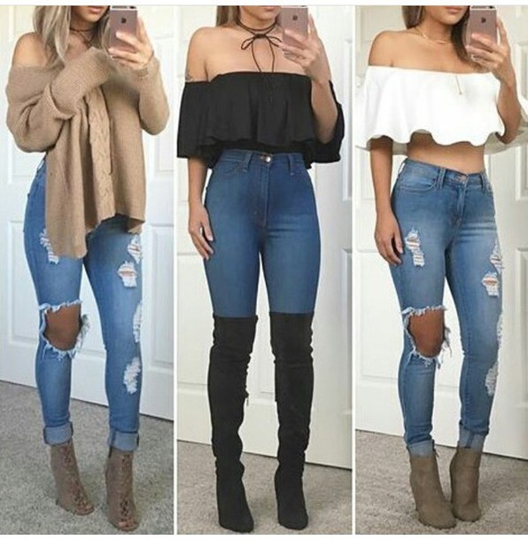 Jeans: outfit, outfit idea, summer outfits, cute outfits ...