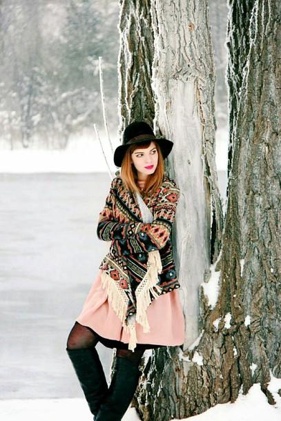 secret garden blogger dress knitted cardigan winter outfits