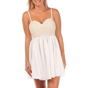 Mojito White Pearl Beaded Bodice Dress ONE Teaspoon Style Size 8 | eBay