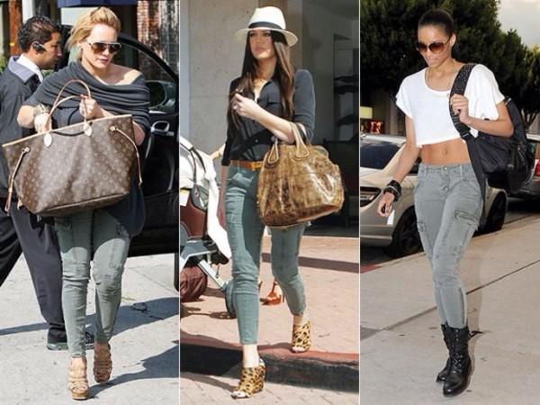 jeans cargo pants khloe kardashian