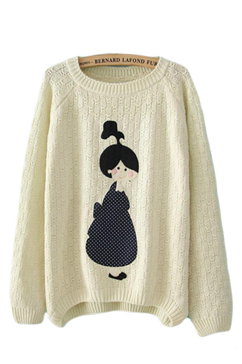 Lovely Girl All-match Pullover Sweater,Cheap in Wendybox.com