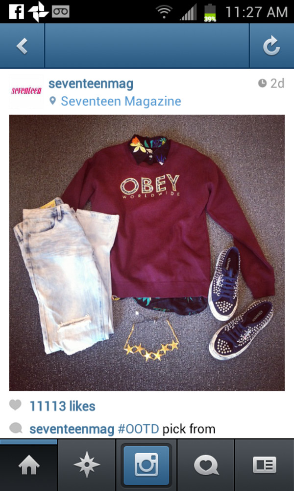 sweater clothes jewels jeans