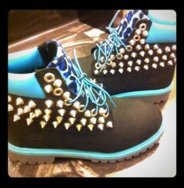shoes blue/black timberland