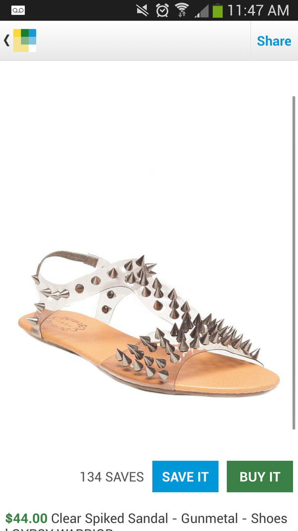 shoes spiked shoes sandals