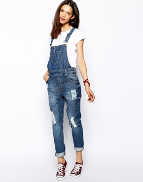 Brooklyn Supply Co. | Brooklyn Supply Co. Jake Mid Wash Dungarees at ASOS