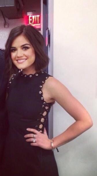 dress black dress lucy hale