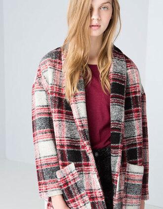coat rouge noir black bershka manteaux red dress blanc white laine