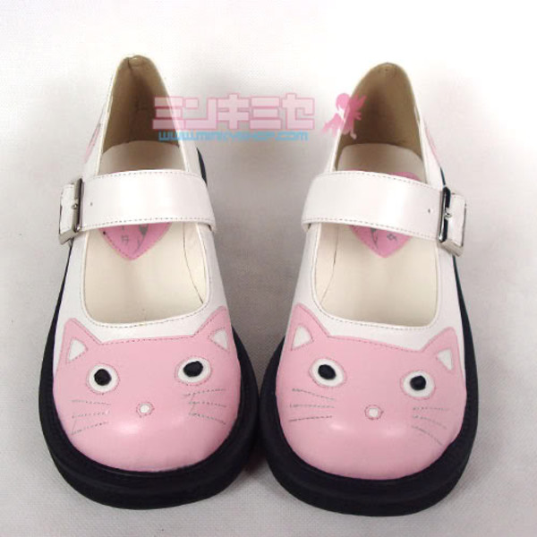 shoes cats japan cute pink white black