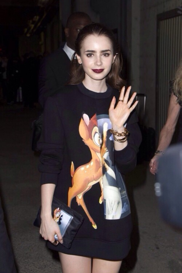 sweater givenchy bambi lily collins