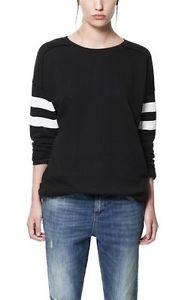 Zara 'Black White' Sweatshirt Jumper Size M Medium | eBay