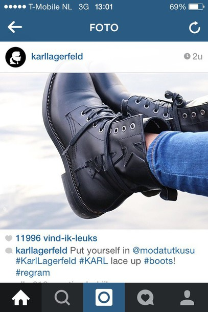 karl lagerfeld black boots