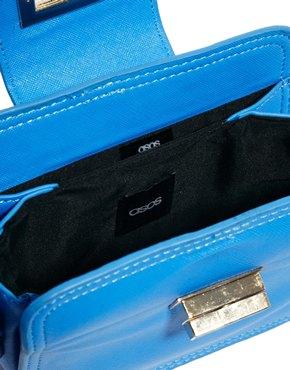 ASOS   ASOS Mini Cross Body Bag With Chunky Lock at ASOS