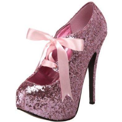 Amazon.com: Bordello by Pleaser Women's Teeze 10 Glitter Platform Pump: Viva Bordello: Shoes