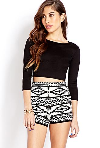 Global Girl Knit Shorts | FOREVER21 - 2000070300
