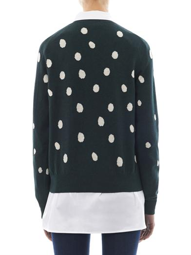 Frog spot-intarsia cotton sweater | Sophie Hulme | MATCHESFASH...