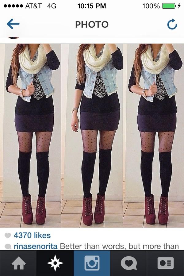 scarf black pencil skirt infinity scarf jean vest denim jacket leopard print black long sleeve crop top knitted scarf tanks blouse jacket shoes underwear skirt