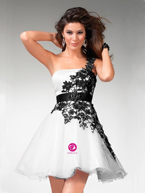 dress black and white cocktail dress