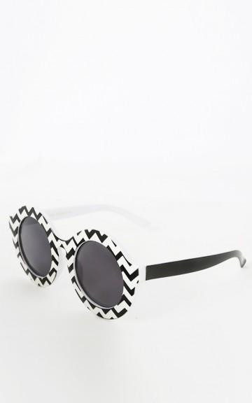 Circle Chevron Sunglasses   MakeMeChic.com