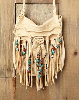 bag tassel native american turquoise