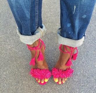 shoes heels pink