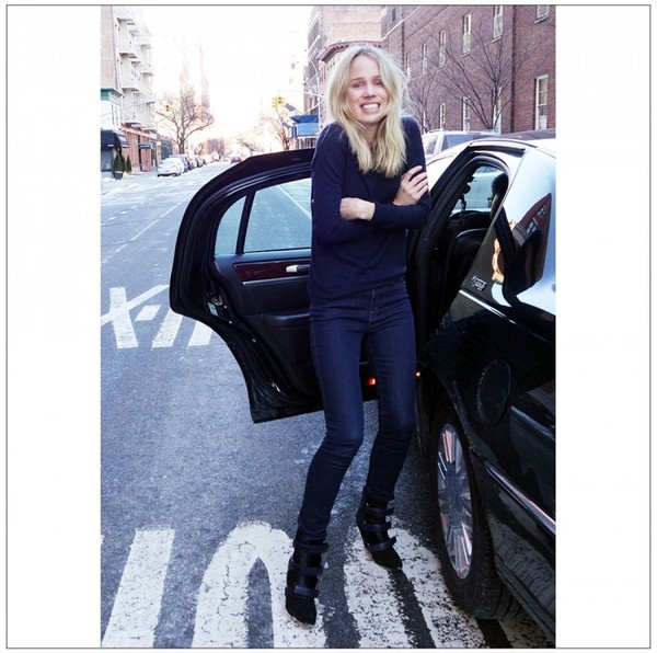 style by kling jeans sweater shoes