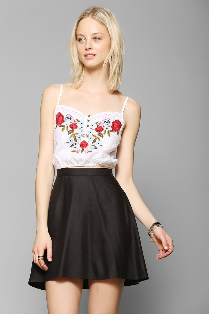 Kimchi Blue Cantina Embroidered Cropped Cami - Urban Outfitters
