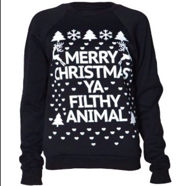 sweater christmas sweater black and white