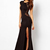 Long A-line Front Slit Hem Dress With Lace : KissChic.com