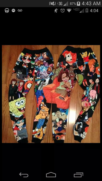 tights joggers cartoon emoji print beyonce dope sex colorful loose jeans date outfit nightout swag
