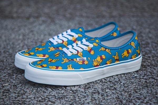 shoes vans disney winnie the pooh pooh vans pooh disnez vans pooh disney vans blue shoes blue yellow