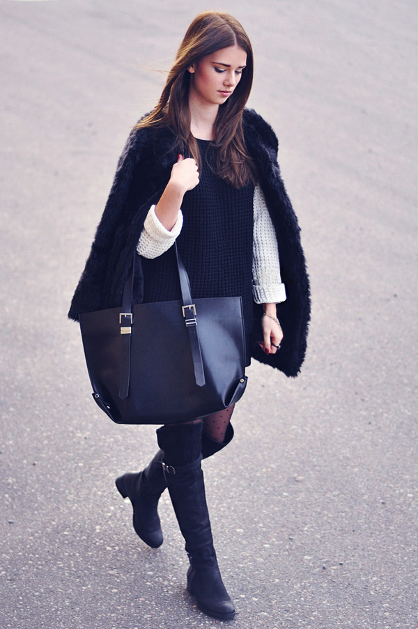 skinny liar skirt sweater shoes bag