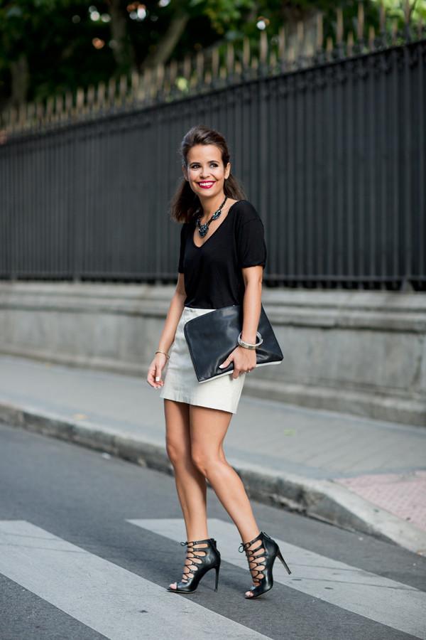collage vintage t-shirt skirt bag shoes jewels