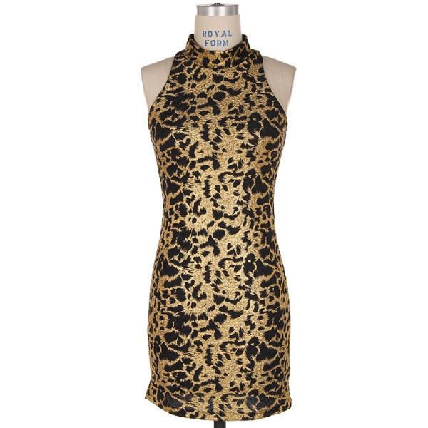 dress girl black gold mini party makeup table vanity row dress to kill rock vogue chic classy metallic