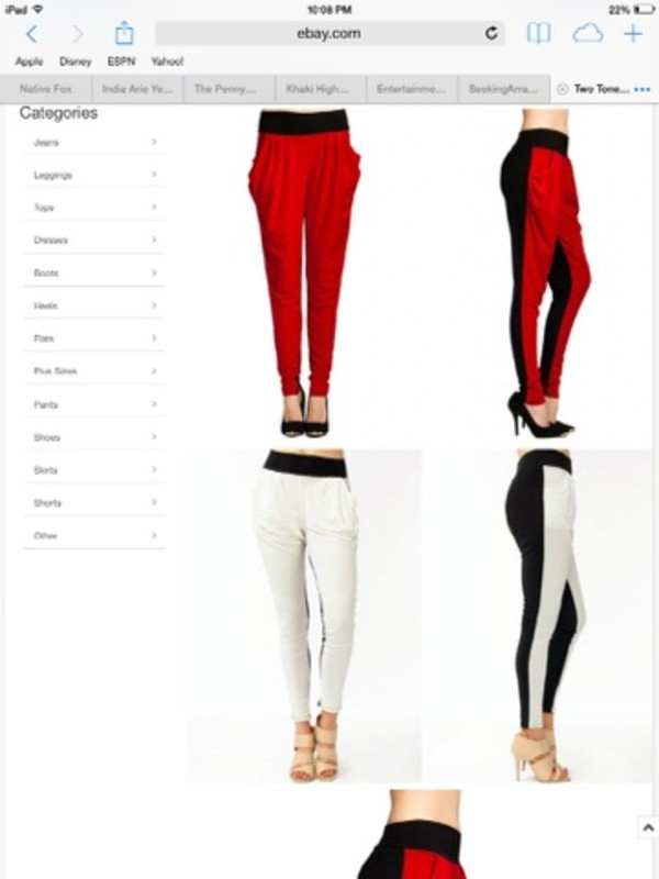 pants two toned harem harem pants harem joggers pants joggers slouchy slouchy pants two tone