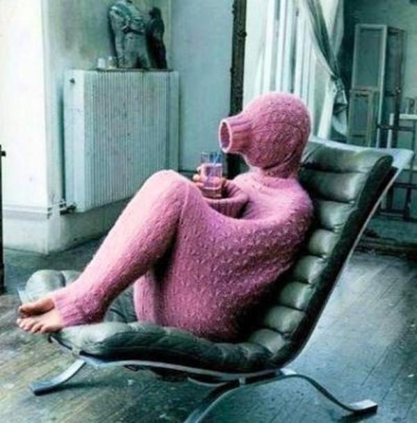 sweater full body pink romper