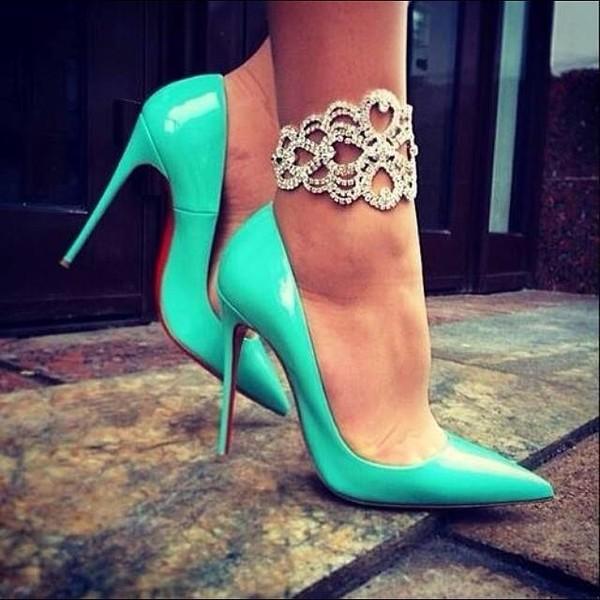 shoes shoes heels wedges mint blue pastel cute shoes blue neon classy jewels