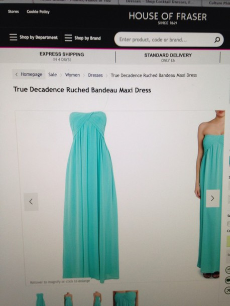 dress aqua floor length dress maxi dress