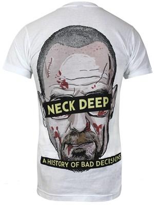 Neck Deep Bad Decisions Men's White T-Shirt - Buy Online at Grindstore.com