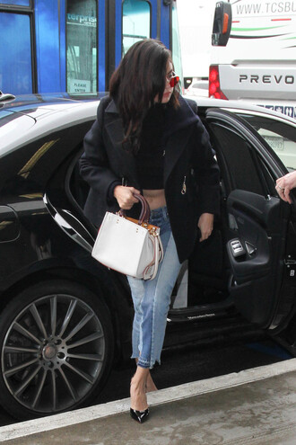 jeans selena gomez top jacket pumps