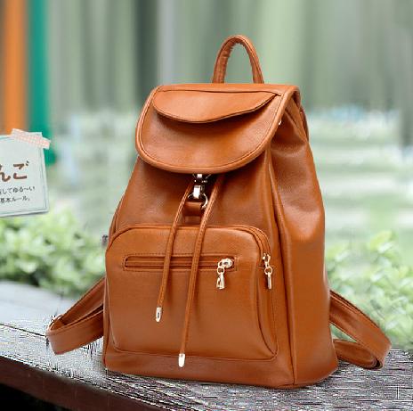 Vintage Brown Leather Backpack on Luulla