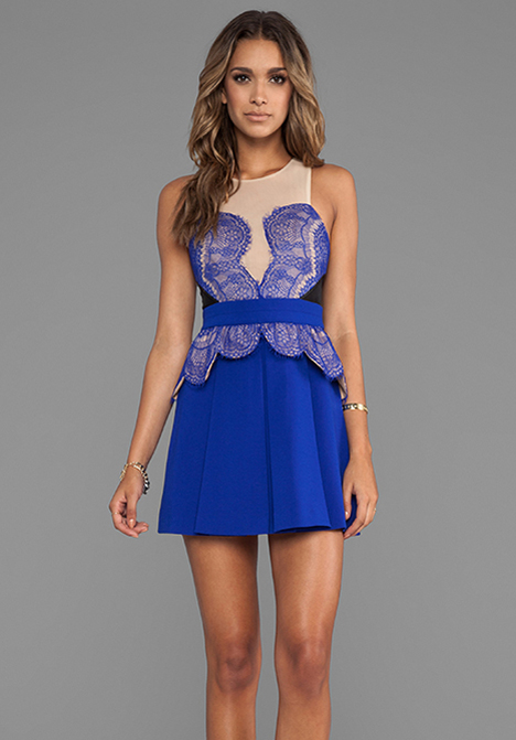 THREE FLOOR Heart You Dress in Nude/Black/Cobalt Blue at Revolve Clothing - Free Shipping!