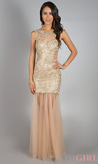 Prom Dresses, Celebrity Dresses, Sexy Evening Gowns - PromGirl: Floor Length Lace Dress