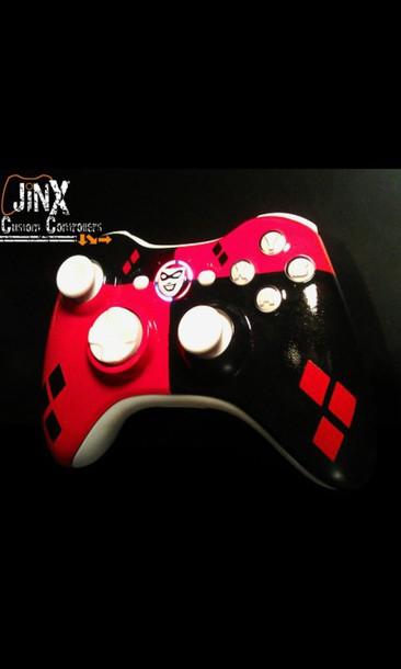 harley quinn joker xbox xbox360 controller diamonds