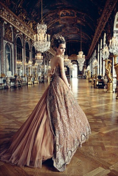 gown long dress long prom dress couture dress dusty pink dior