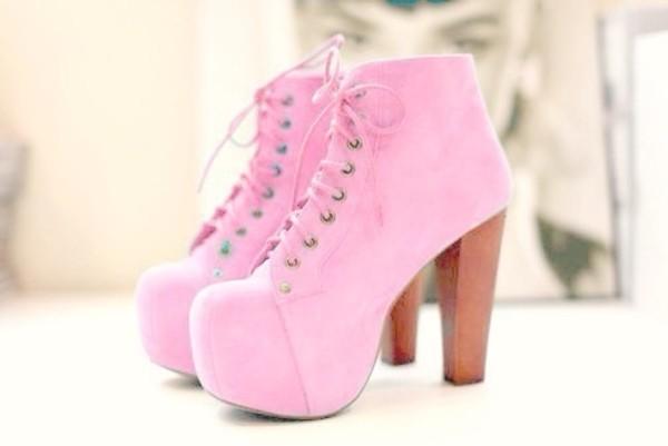platform lace up boots pink shoes baby pink velvet shoes jeffrey campbell platform shoes