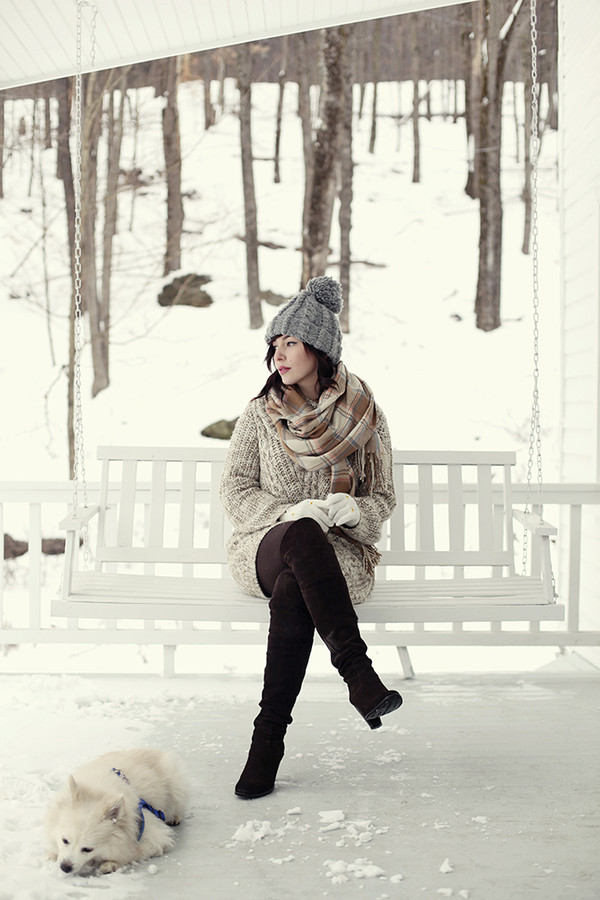 keiko lynn hat sweater dress scarf shoes winter outfits