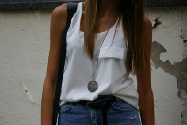 singlet shirt white white t-shirt