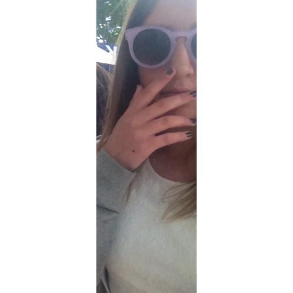 sunglasses lilac cat eye pretty girly vintage tumblr