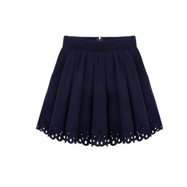 Sweet Lap Cute Summer Skirts Black White