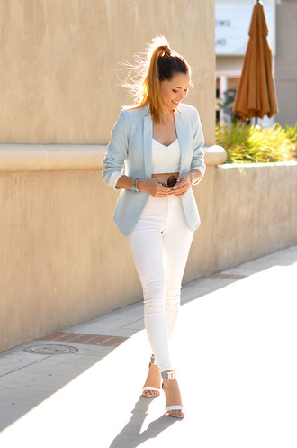 hapa time blogger jacket top shoes jewels blazer